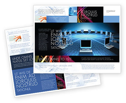 Technology, Science & Computers: Networking Connection Star Type Brochure Template #05256