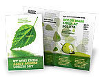 Nature & Environment: Green Leaf Falling Brochure Template #05260