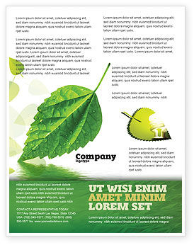 Nature & Environment: Green Leaf Falling Flyer Template #05260