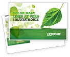 Nature & Environment: Green Leaf Falling Postcard Template #05260