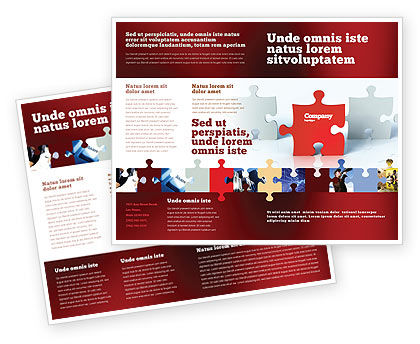 Guess Brochure Template, 05262, Consulting — PoweredTemplate.com