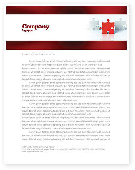Guess Letterhead Template, 05262, Consulting — PoweredTemplate.com