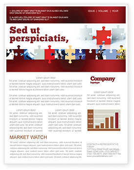 Guess Newsletter Template, 05262, Consulting — PoweredTemplate.com