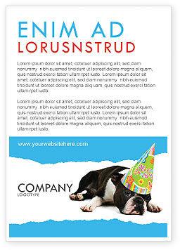 Holiday/Special Occasion: Modelo de Anúncio - filhote de cachorro feliz aniversário #05265