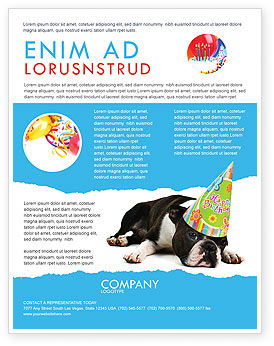 Holiday/Special Occasion: Happy Birthday Puppy Flyer Template #05265