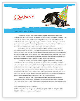 Happy Birthday Puppy Letterhead Template, 05265, Holiday/Special Occasion — PoweredTemplate.com