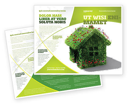 House Of Flowers And Herbs Brochure Template Design