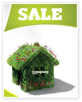 House of Flowers and Herbs Sale Poster Template, 05268, Careers/Industry — PoweredTemplate.com