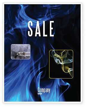 Smoke Sale Poster Template, 05269, Abstract/Textures — PoweredTemplate.com