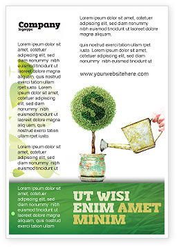 Financial/Accounting: Money Tree Ad Template #05271