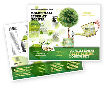 Money Tree Brochure Template, 05271, Financial/Accounting — PoweredTemplate.com