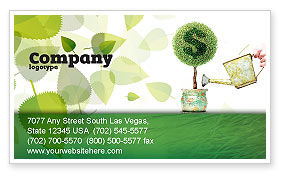 Money Tree Business Card Template, 05271, Financial/Accounting — PoweredTemplate.com