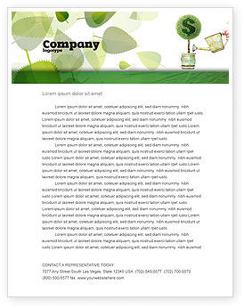 Money Tree Letterhead Template