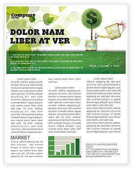 Money Tree Newsletter Template, 05271, Financial/Accounting — PoweredTemplate.com