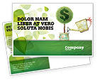 Financial/Accounting: Money Tree Postcard Template #05271