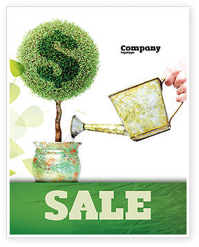 Money Tree Sale Poster Template, 05271, Financial/Accounting — PoweredTemplate.com