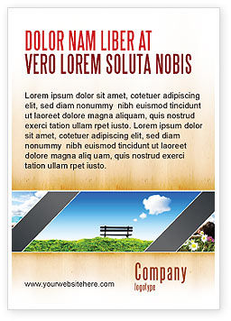 Bench Ad Template, 05275, Nature & Environment — PoweredTemplate.com
