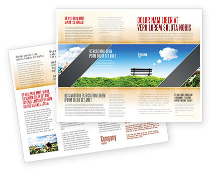 Bench Brochure Template, 05275, Nature & Environment — PoweredTemplate.com