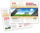 Nature & Environment: Plantilla de folleto - banco #05275