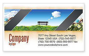 Bench Business Card Template, 05275, Nature & Environment — PoweredTemplate.com