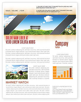 Bench Newsletter Template, 05275, Nature & Environment — PoweredTemplate.com
