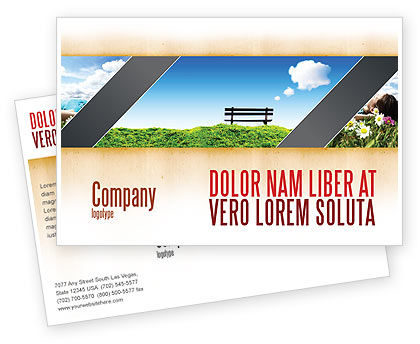 Nature & Environment: Bench Postcard Template #05275