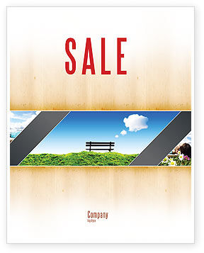 Bench Sale Poster Template