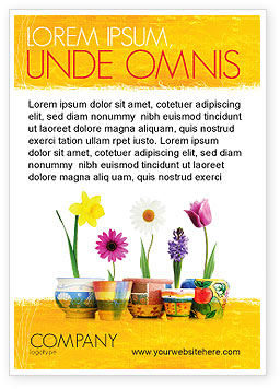 Holiday/Special Occasion: Venster Bloemen Advertentie Template #05278