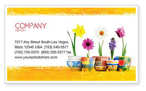 Holiday/Special Occasion: Window Flowers Business Card Template #05278
