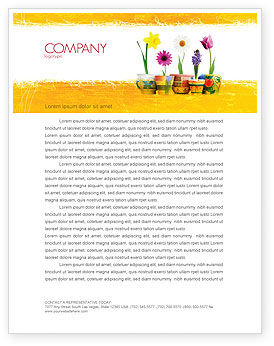 Holiday/Special Occasion: Window Flowers Letterhead Template #05278