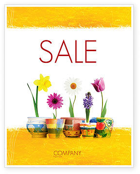 Holiday/Special Occasion: Window Flowers Sale Poster Template #05278
