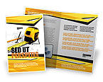 Careers/Industry: Tape Measure Brochure Template #05282