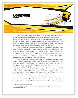 Careers/Industry: Maßband Briefkopf Vorlage #05282