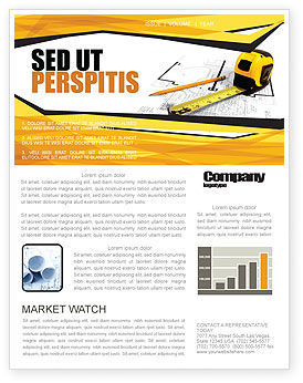 Tape Measure Newsletter Template, 05282, Careers/Industry — PoweredTemplate.com