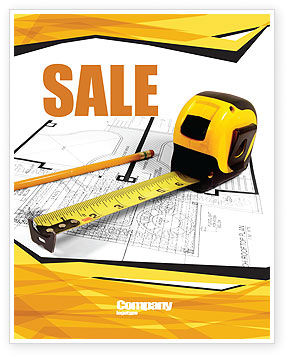 Careers/Industry: Tape Measure Sale Poster Template #05282