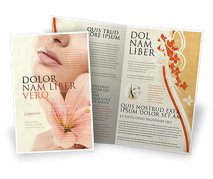 Lily Brochure Template, 05288, Medical — PoweredTemplate.com