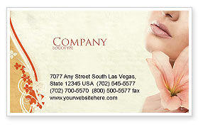 Lily Business Card Template, 05288, Medical — PoweredTemplate.com