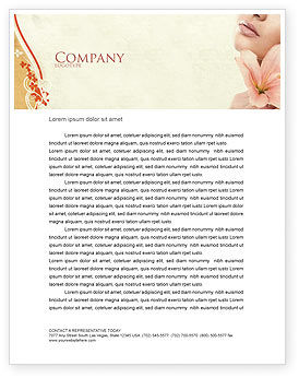 Medical: Lily Letterhead Template #05288