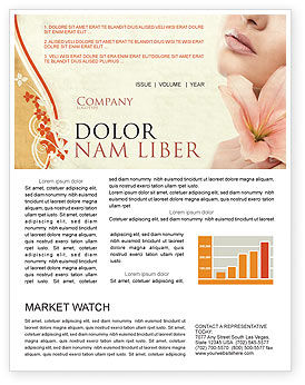 Medical: Lily Newsletter Template #05288