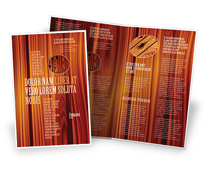 Wood Brochure Template, 05294, Abstract/Textures — PoweredTemplate.com