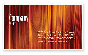Wood Business Card Template, 05294, Abstract/Textures — PoweredTemplate.com