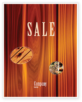 Wood Sale Poster Template, 05294, Abstract/Textures — PoweredTemplate.com