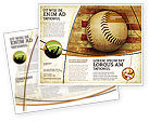 Sports: Amerikaanse Honkbal Brochure Template #05296