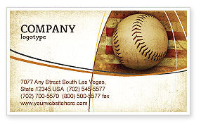 American Baseball Business Card Template, 05296, Sports — PoweredTemplate.com
