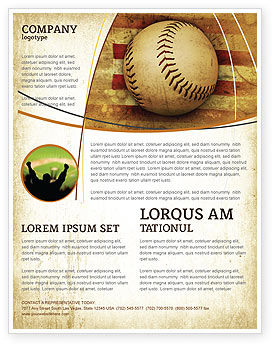 Sports: American Baseball Flyer Template #05296