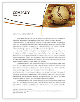 Sports: American Baseball Letterhead Template #05296