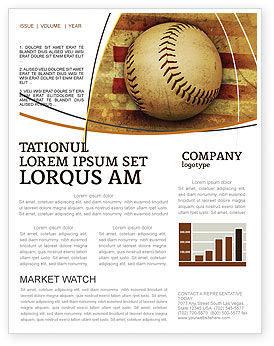 American baseball newsletter template for microsoft word for Baseball brochure template