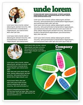 Toothbrush Flyer Template, 05310, Medical — PoweredTemplate.com