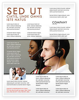 Telecoms Operator Flyer Template, 05311, Careers/Industry — PoweredTemplate.com