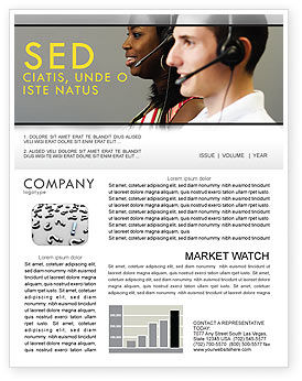 Careers/Industry: Telecoms Operator Newsletter Template #05311